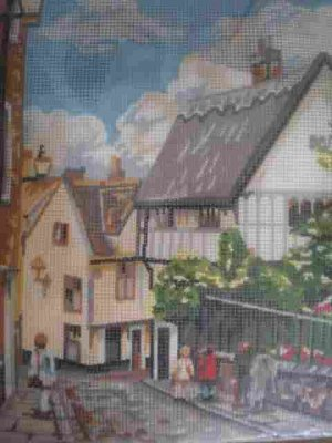 Peggoty's Pictures Elm Hill Village Scene Needlepoint/Tapestry Kit
