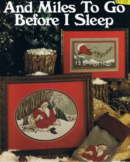 "Leasure Arts Leaflet 730 Christmas ""And Miles to Go Before I Sleep"""