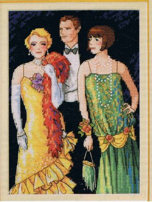 Dimensions Gold Collection Petites Putting on the Ritz counted Cross Stitch Design