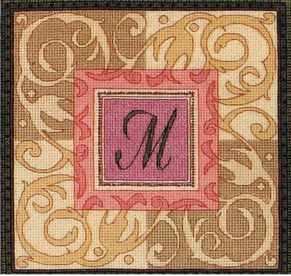Dimensions Gold Collection Petites Monogram Elegance Counted Cross Stitch Design