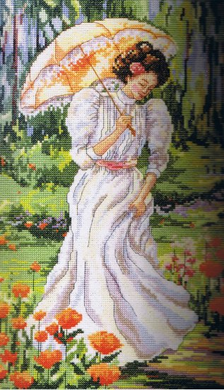 Janlynn Platinum Collection Rossi's Out for a Stroll Victorian Counted Cross Stitch