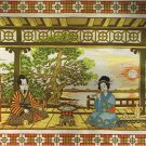 Paragon Oriental Splendor Japanese Geisha in a Tea Garden Crewel / Embroidery Kit