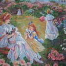 Collection D'Art Victorian Garden with Playful Kittens Tapestry/Needlepoint Canvas