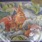 Bucilla Needlepoint Bunny's Cabbage Garden by Nancy Rossi