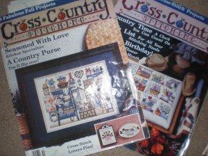 Lot of 6 cross stitch pattern books - Cross Country & Leisure Arts