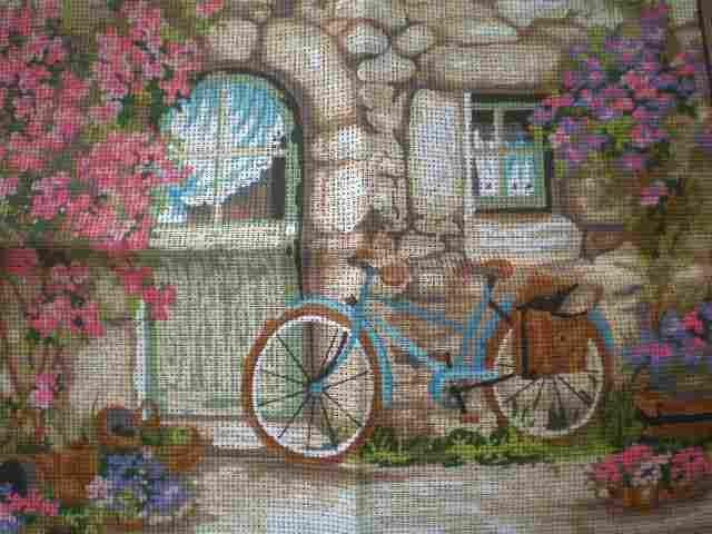 "Fleur de Lis ""Express Delivery"" Tapestry/Needlepoint Kit"