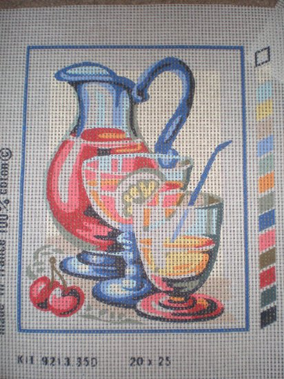 "SALE SEG Kitchen ""Summer Punch"" Needlepoint/Tapestry Starter Kit"