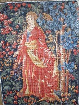 "Margot ""La Dame"" The Lady Medieval Cluny Tapestry/Needlepoint Kit"