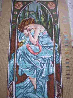 "Gobelin Mucha's ""La Nuit"" The Night Tapestry / Needlepoint Kit"