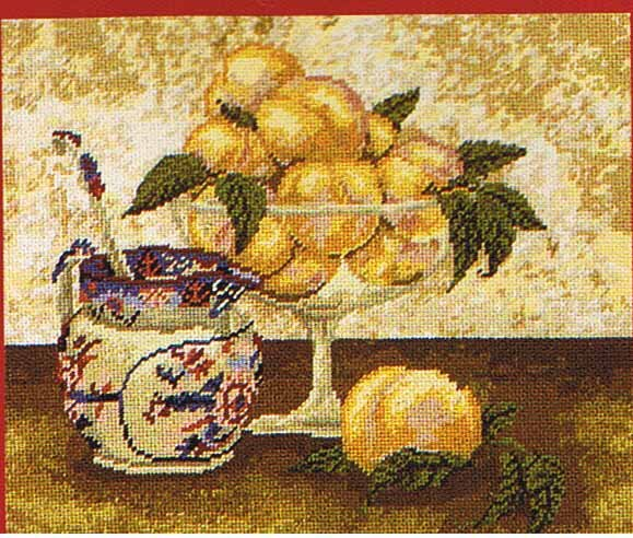 DMC Peaches and Cream Kitchen Tapestry / Needlepoint Kit