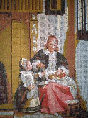"DMC Die Apfelschalerin ""The apple peeler"" Kitchen Tapestry / Needlepoint Kit"