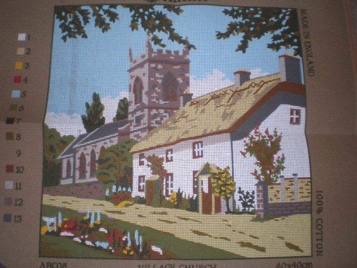 Anchor Village Church  Tapestry / Needlepoint / Cross Stitch Kit