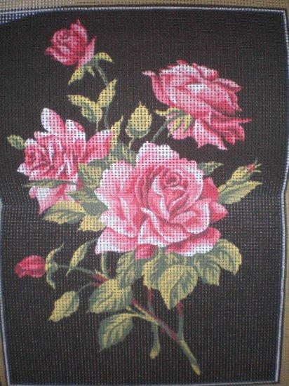 "Margot Creations de Paris ""Roses"" Tapestry / Needlepoint kit"