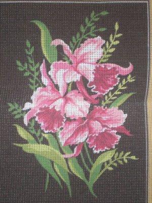 "Margot Creations de Paris ""Orchid"" Tapestry / Needlepoint kit"