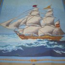 """Le Frigate""  Ship with sails Needlepoint / Tapestry Kit"