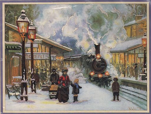 Sunset Snow and Steam designed by Alan Maley Crewel Kit