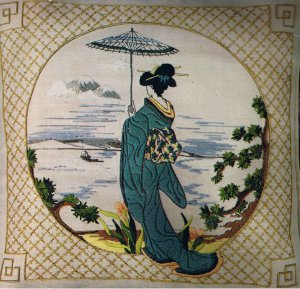 """""""Japanese Horizon"""" Dimensions Crewel Embroidery kit by Pat Zitomer"""