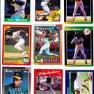 Rickey Henderson Lot of 6 1988 Topps #60