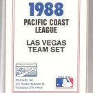 1988 Las Vegas Stars Team set by ProCards