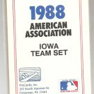1988 Iowa Cubs Team set by ProCards with Mark Grace