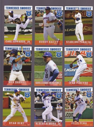 Wes Darvill  Lot of 5 - 2015 Tennessee Smokies