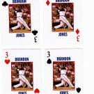 Brandon Jones 2008 Richmond Braves 4 cards - 1 each suit