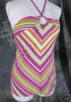 Victoria's Secret Knit Tie Halter Top Womens Medium M