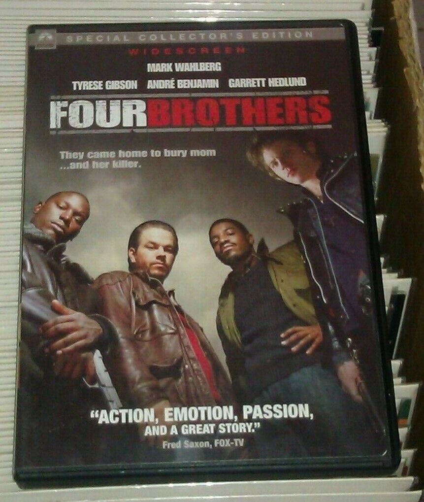 Four Brothers (DVD, 2005, Widescreen/ Checkpoint) Mark Wahlberg Tyrese Gibson