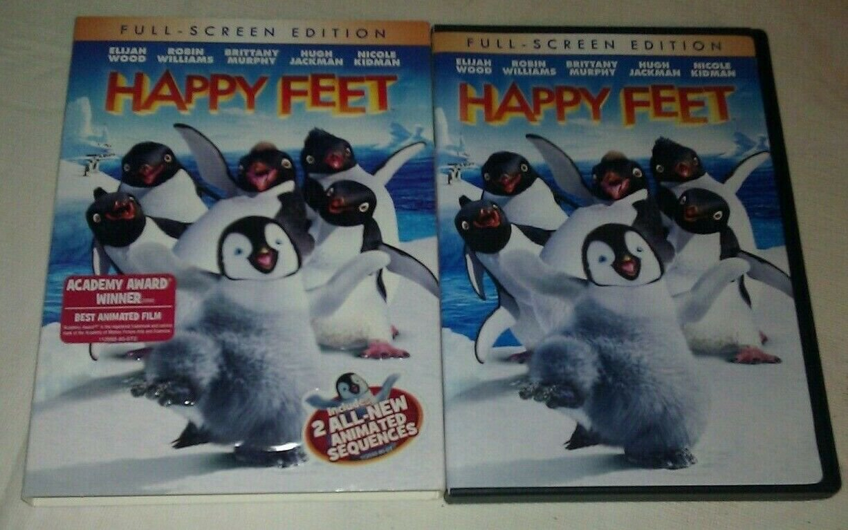 Happy Feet (DVD, 2007, Full Frame) Ellijah Wood Robin Williams