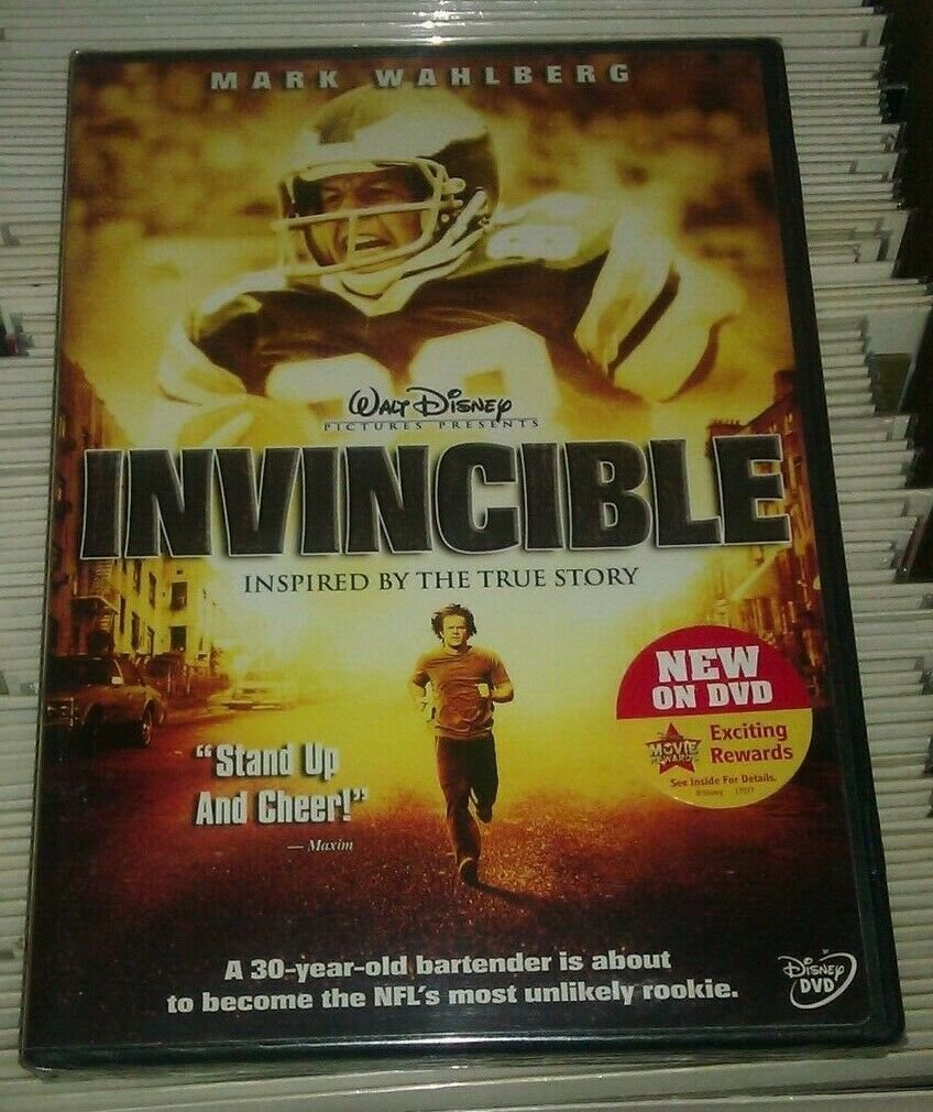 Invincible (DVD, 2006, Widescreen) Factory Sealed Mark Wahlberg