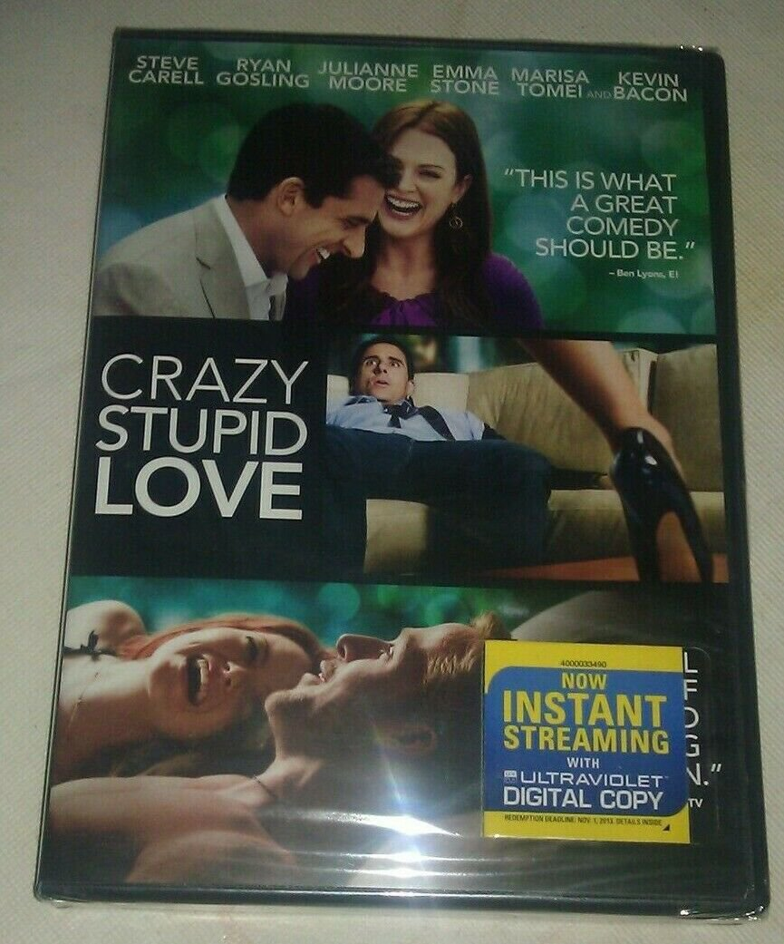 Crazy, Stupid, Love. (DVD, 2011) Factory Sealed Steve Carell Ryan Gosling