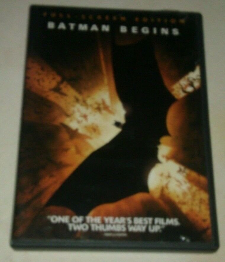 Batman Begins (DVD, 2005, Full Frame) Christian Bale