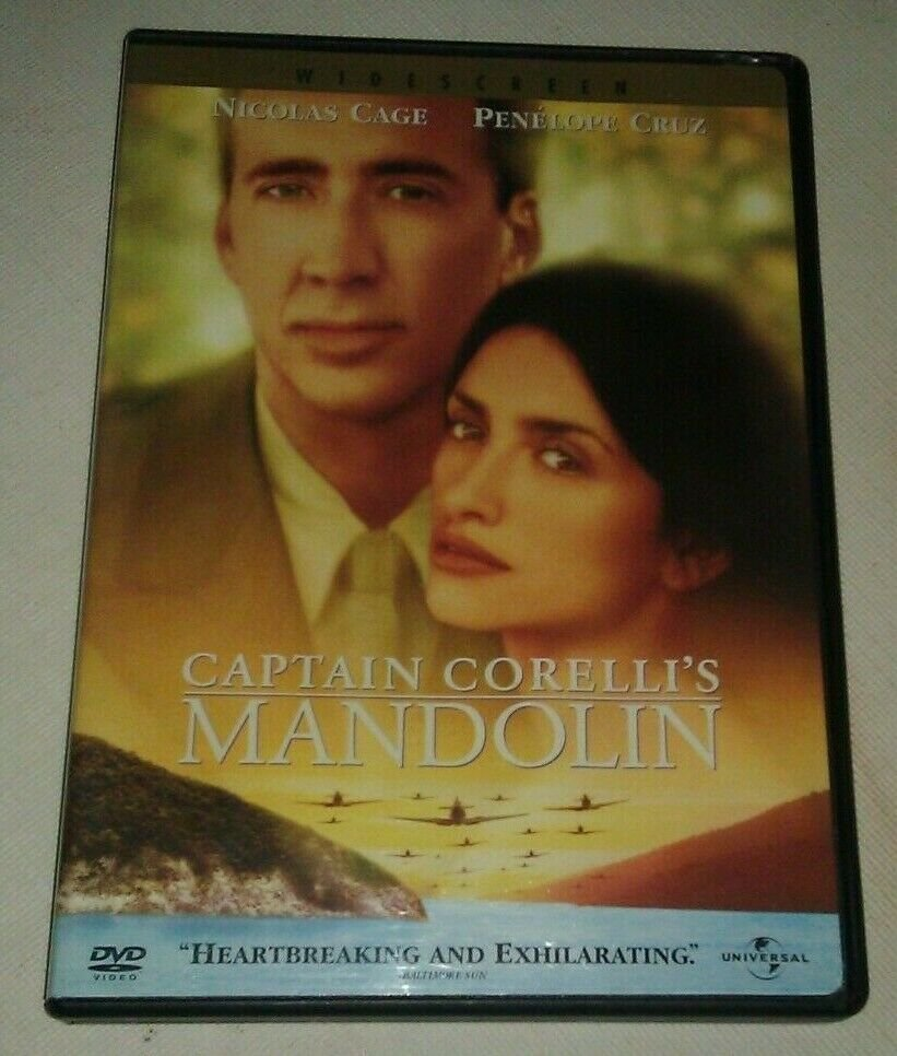 Captain Corellis Mandolin (DVD, 2002) Nicolas Cage Penelope Cruz