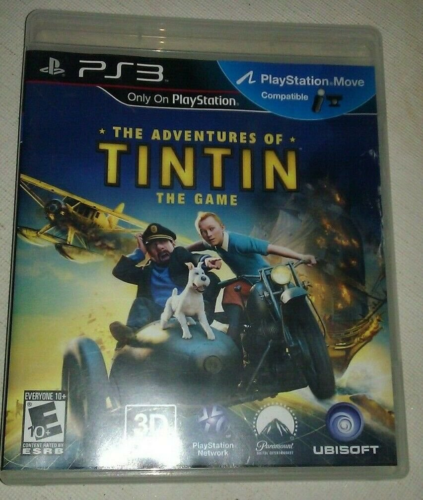 Adventures of Tintin: The Game (Sony PlayStation 3) With Manual CIB Tested PS3