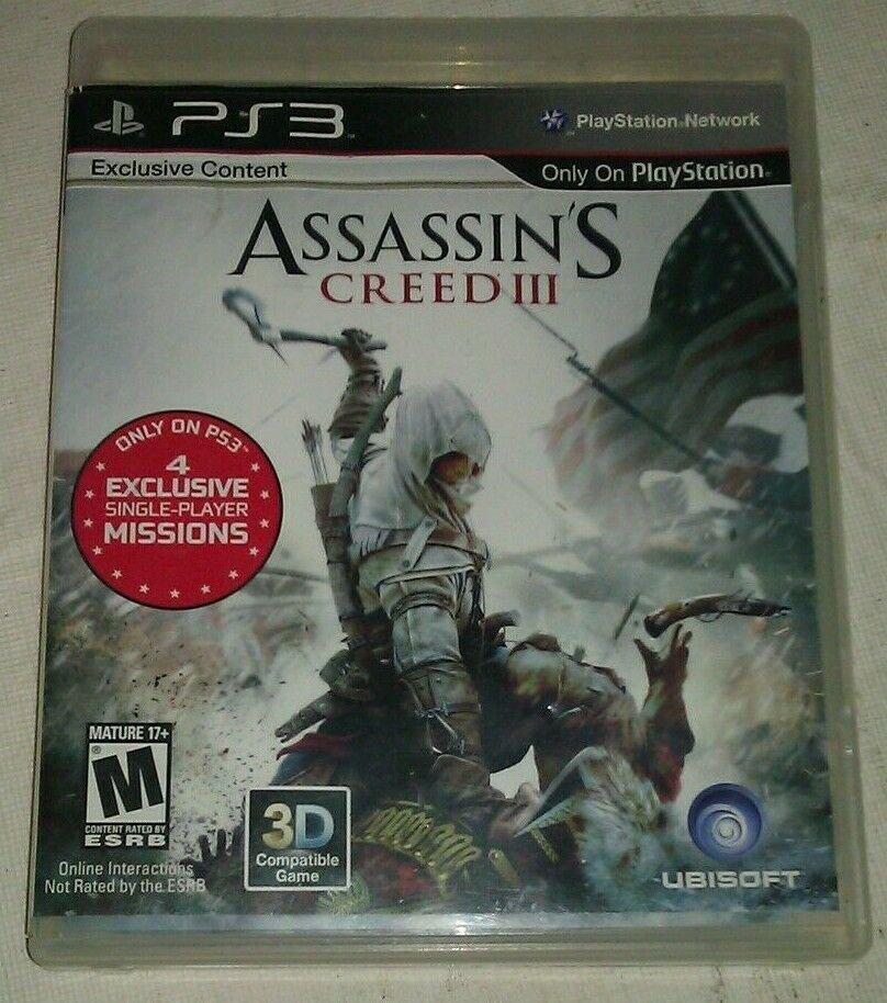 Assassin's Creed III (Sony PlayStation 3, 2012) PS3