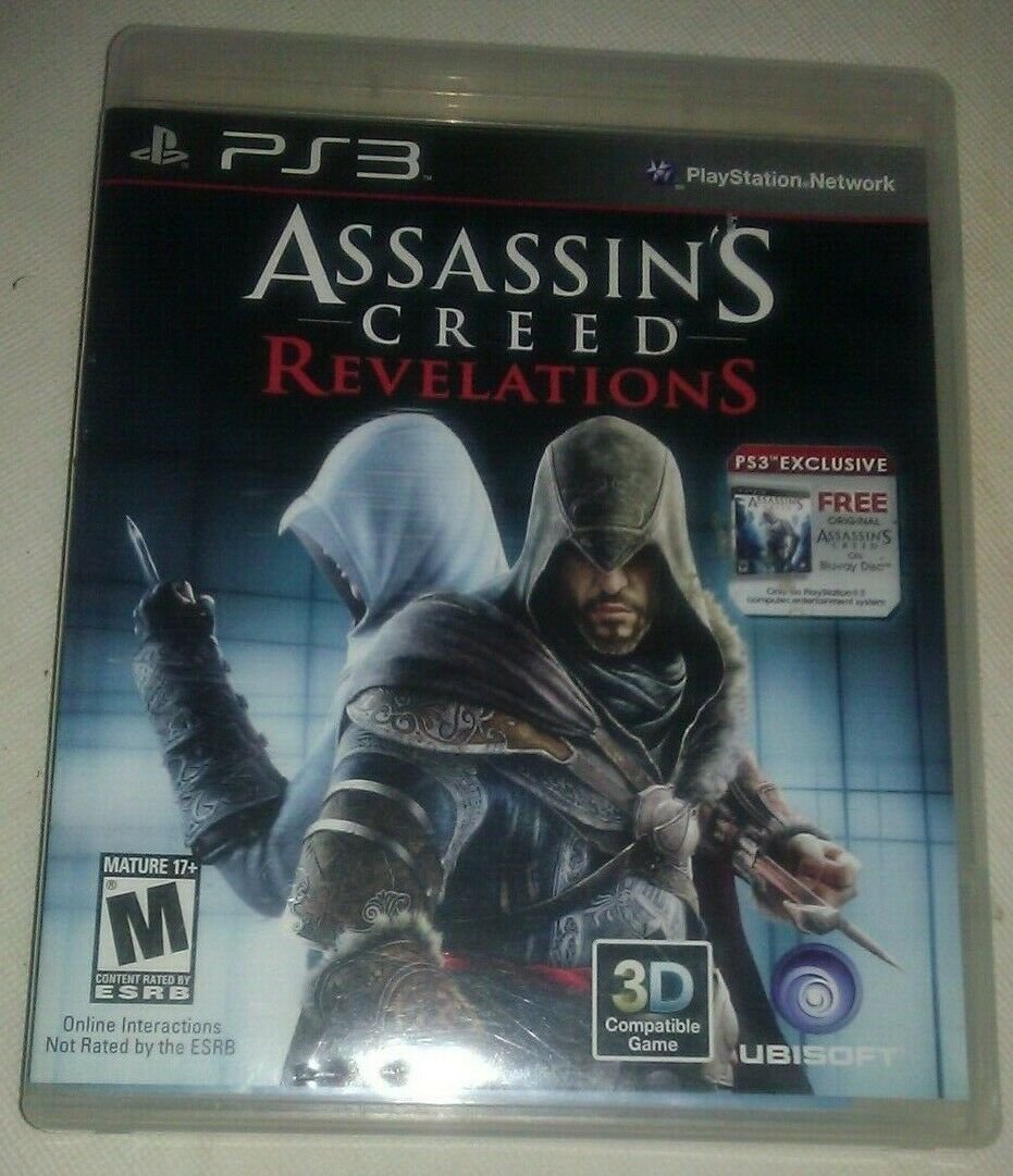 Assassin's Creed: Revelations (Sony PlayStation 3, 2011) With Manual PS3 Tested