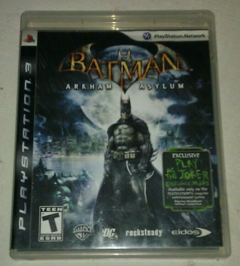 Batman: Arkham Asylum (Sony PlayStation 3, 2009) With Manual CIB Tested PS3