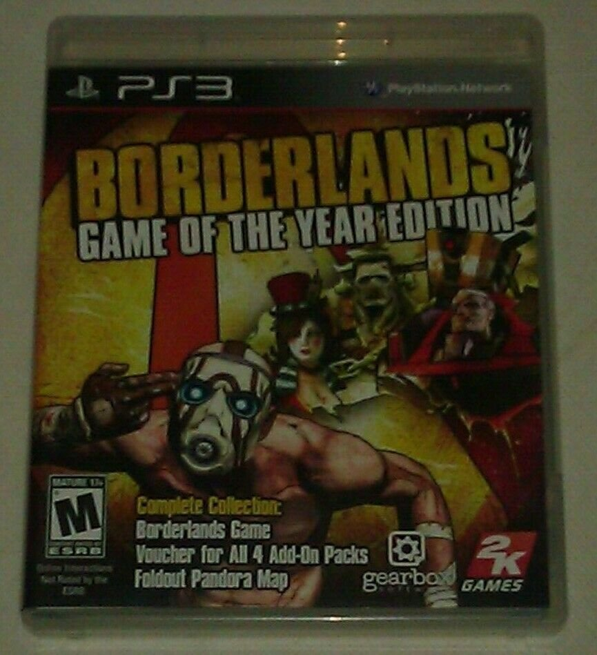 Borderlands Game of the Year Edition (Sony PlayStation) PS3 Complete CIB Tested