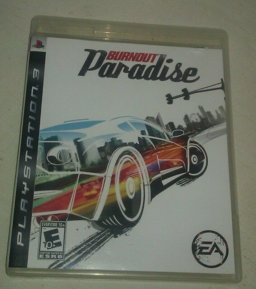 Burnout Paradise (Sony PlayStation 3, 2008) Complete With Manual CIB PS3
