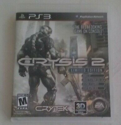 Crysis 2 Limited Edition (Sony PlayStation 3, 2011) PS3 CIB CIP Complete Tested