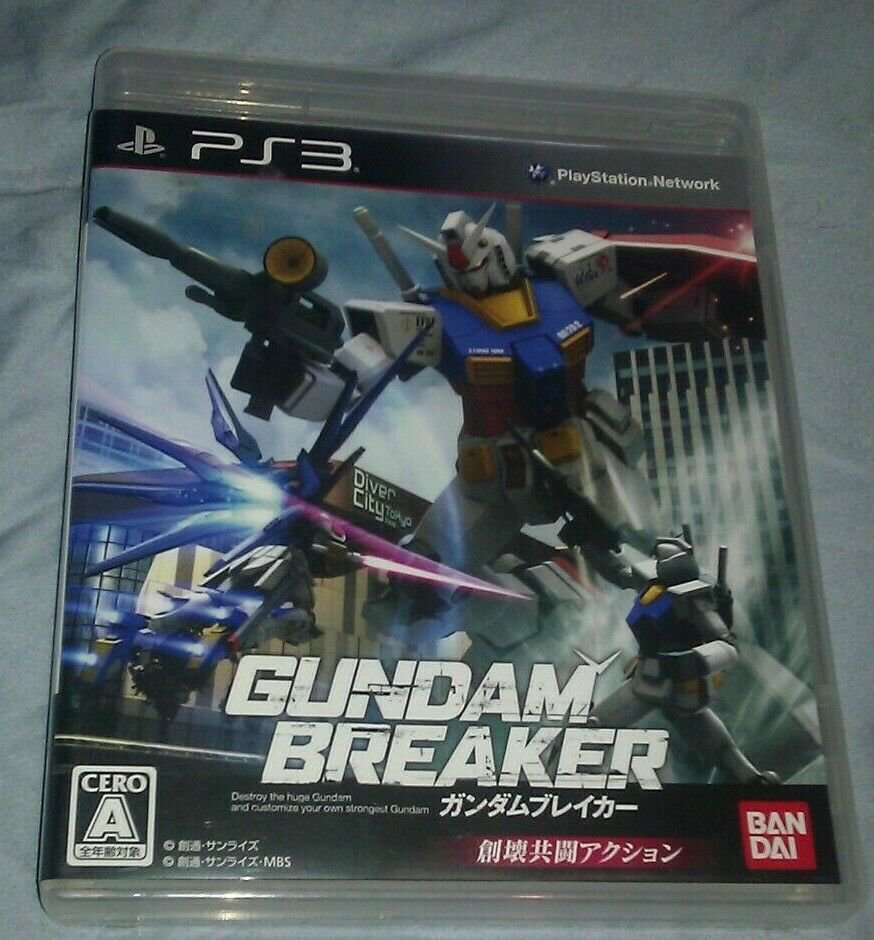 Gundam Breaker (Sony PlayStation 3, 2013) - Japanese Version CIB PS3 US Seller