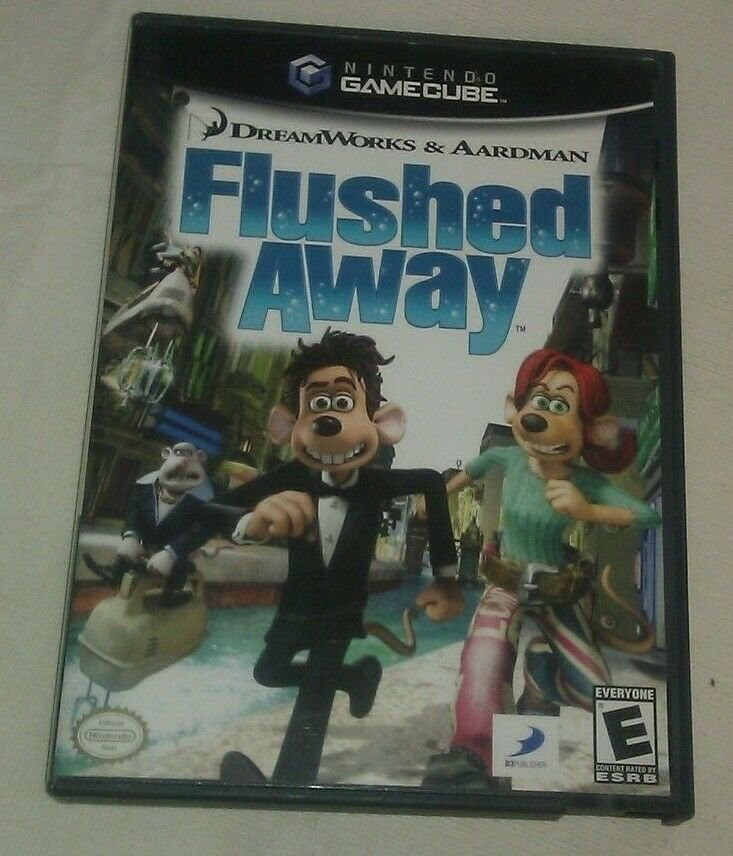Flushed Away (Nintendo GameCube, 2006) Complete W/ Manual CIB Tested