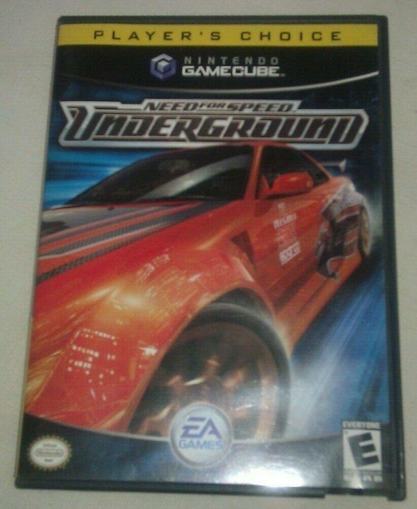 Need for Speed: Underground (Nintendo GameCube, 2003) Players Choice CIB Tested