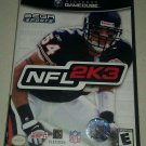 NFL 2K3 Football (Nintendo GameCube, 2002) Complete W/ Manual CIB Tested
