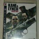 Kane & Lynch Dead Men (Sony PlayStation 3, 2007) PS3
