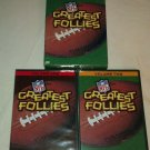 NFL Greatest Follies Collection Giftset (DVD, 2005, 2-Disc Set, 2 Pack)