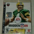 Madden NFL 09 Football (Sony PlayStation 3, 2008) PS3