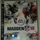 Madden NFL 10 Football (Sony PlayStation 3, 2009) PS3
