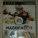 Madden NFL 11 Football (Sony PlayStation 3, 2010) PS3