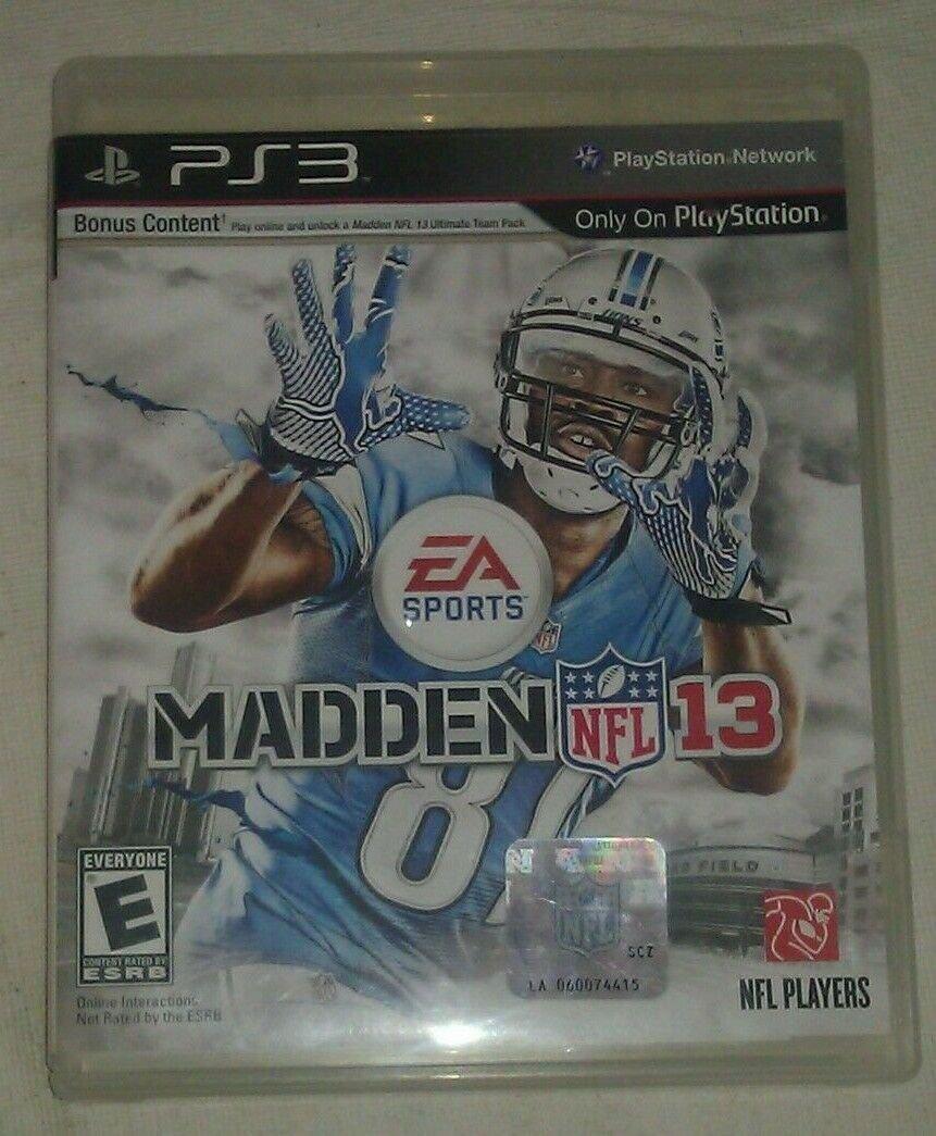 Madden NFL 13 Football (Sony PlayStation 3, 2012) PS3